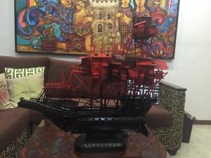 Aris Bagtas Balangay Sculpture