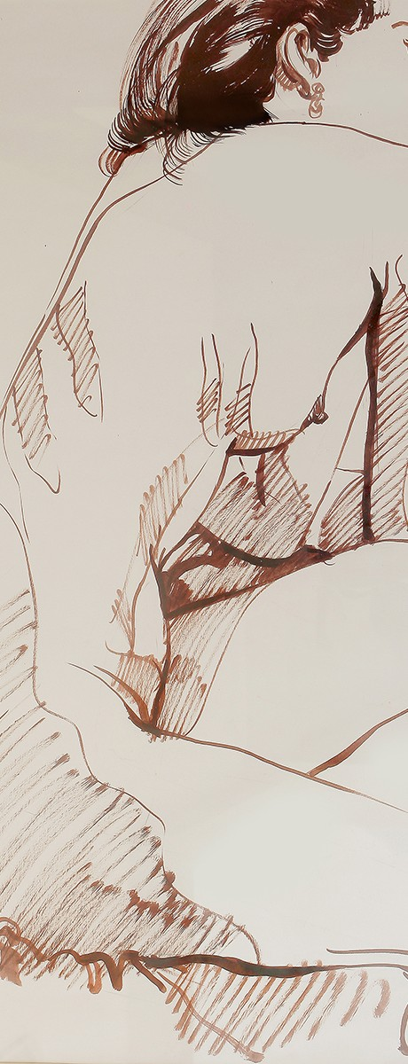 Rafael Cusi Sepia Nude